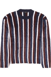 Joseph Striped brushed wool-blend sweater