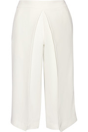 Joseph Billy pleated washed-silk culottes