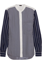 Joseph Lance striped silk blouse