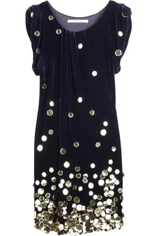 Diane von FurstenbergPersal embellished velvet dress