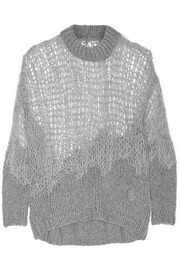 Maison Martin Margiela Open-knit wool-blend sweater