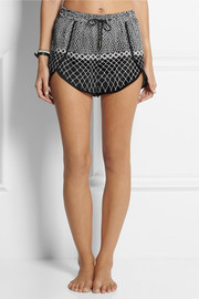 Zimmermann Printed crepe shorts