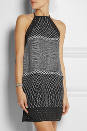 Zimmermann Perforated printed crepe dress