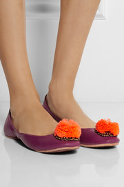 Finds + Figue Pom Pom leather ballet flats