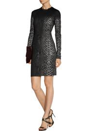 Christopher Kane Snake-print stretch-jersey mini dress