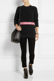 Christopher Kane Zip-detailed ribbed cotton sweater