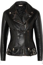 Christopher Kane Belted leather jacket