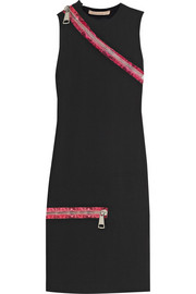 Christopher Kane Zip-detailed stretch-cady dress