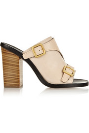 Chloé Buckled leather mules