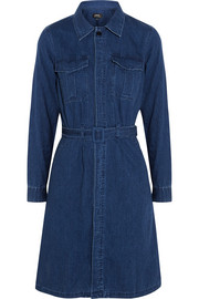 A.P.C. Atelier de Production et de Création Army belted denim dress