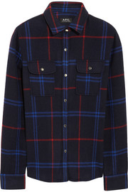 A.P.C. Atelier de Production et de Création Plaid wool-blend felt shirt