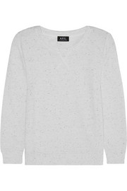 A.P.C. Atelier de Production et de Création Flecked cotton-blend sweatshirt