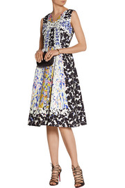 Peter Pilotto RH printed silk-blend cloqué dress
