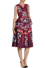 Peter Pilotto Emma printed silk-blend cloqué skirt