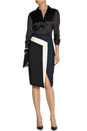 Peter Pilotto Mila color-blocked crepe skirt