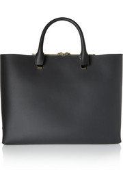 Baylee large two-tone leather tote