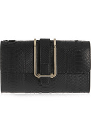 Chloé Bronte python and leather clutch