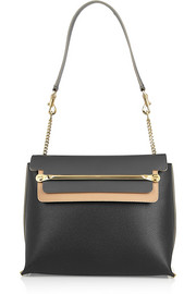 Clare medium textured-leather shoulder bag