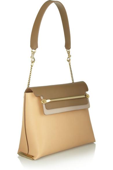 Chlo�� | Clare medium leather shoulder bag | NET-A-PORTER.COM