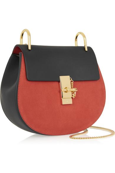Chlo�� | Drew leather and suede shoulder bag | NET-A-PORTER.COM