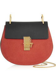 Chloé Drew leather and suede shoulder bag