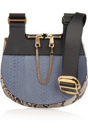 Chloé Drew python and leather shoulder bag