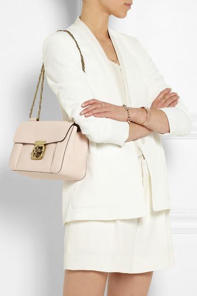 c0784925e30 Chloé. Elsie medium textured-leather shoulder bag.  1