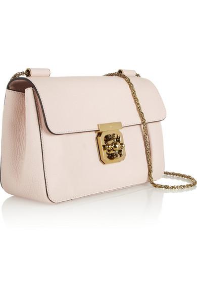 f4d86f702aead Chloé | Elsie medium textured-leather shoulder bag | NET-A-PORTER.COM