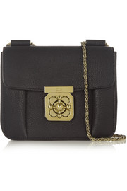 Chloé Elsie small textured-leather shoulder bag