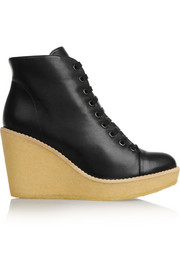 Stella McCartney Faux leather wedge ankle boots
