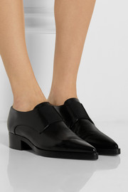 Stella McCartney Faux leather point-toe slip-on shoes