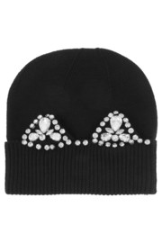 Markus Lupfer Cat Ear Jewel embellished merino wool beanie