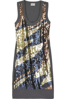 Haute Hippie Sequin-embellished tank dress