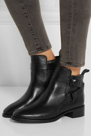 McQ Alexander McQueen Buckled leather ankle boots
