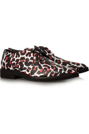 McQ Alexander McQueen Leopard-print leather brogues