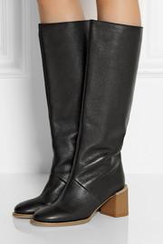 See by Chloé Textured-leather knee boots
