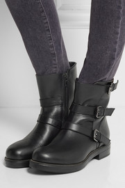 Karl Lagerfeld Buckled leather ankle boots