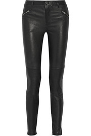 1 stretch-leather skinny pants