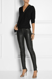 BLK DNM 1 stretch-leather skinny pants