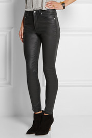 BLK DNM Coated high-rise skinny jeans
