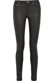 BLK DNM 22 coated high-rise skinny jeans