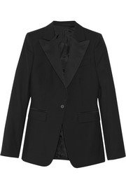 10 satin-trimmed wool jacket