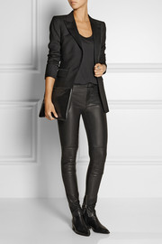 BLK DNM 10 satin-trimmed wool jacket