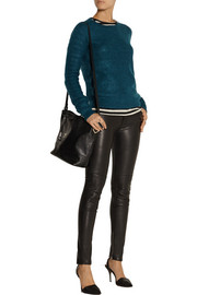 BLK DNM 21 cropped mohair-blend sweater
