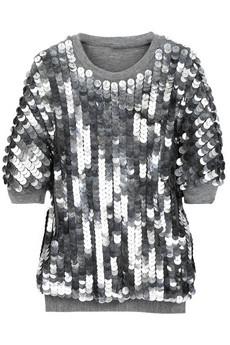 AdamSequin-embellished jersey sweatshirt