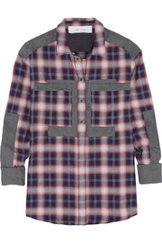 Clelie plaid cotton-blend shirt