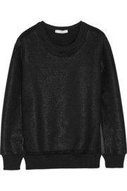 IRO Logan coated cotton-blend terry sweatshirt