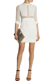 IRO Tina silk-paneled crepe mini dress