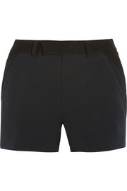 Amael gabardine and crepe shorts