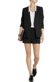 IRO Amael gabardine and crepe shorts